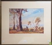 Sale 8613 - Lot 2064 - Henry Martin (1891 - 1944) - Country Track, watercolour 38x 52cm, signed lower left