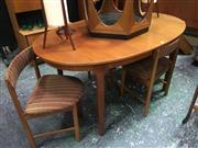 Sale 8643 - Lot 1030 - McIntosh Teak Table and Set of 4 Chairs