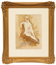 Sale 8655 - Lot 2030 - Attributed to Constance Stokes (1906 -1991) - Nude 31.5 x 24.5cm