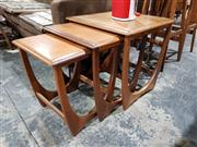 Sale 8765 - Lot 1043 - G-Plan Teak Nest of Tables