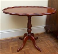 Sale 8735 - Lot 63 - A cedar shaped top table, H x 55cm, W x 65cm, D x 43cm