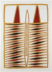 Sale 8838 - Lot 593 - Peter Datjin Burarrwanga (1953 - ) - Untitled, 2000 (Elcho Island) 70 x 102cm