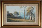 Sale 8929 - Lot 561 - Leon Hanson (1918 - 2011) - Cottage in Autumnal Country 20.5 x 36 cm