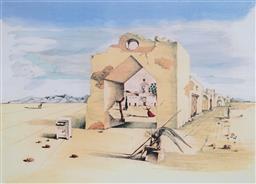 Sale 8985A - Lot 5020 - Salvador Dali (1904 - 1989) - Paranoic Village 56 x 76 cm (frame: 104 x 87 x 3 cm)