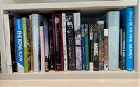Sale 9090H - Lot 77 - A shelf lot of books including Hunting shooting, Great escapes Luxury Islands etc