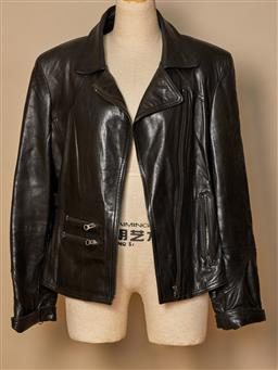 Sale 9093F - Lot 71 - A Reza Duro black leather biker style jacket, size 40(size 10)
