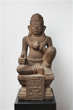 Sale 9118A - Lot 5033 - Champa Era C11th - C15th - Sitting God 82 x 35 x 30 cm; weight 96kg