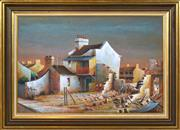 Sale 8382 - Lot 546 - John Pointon (1936 - ) - Backyards, Redfern, 1973 50 x 75cm