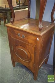 Sale 8390 - Lot 1152 - Vintage Timber Single Door and Drawer Bedside