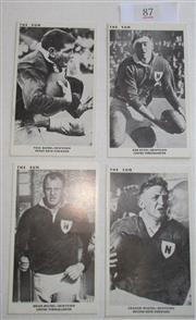Sale 8404S - Lot 87 - Newtown The Sun Footy Cards 1967 – Paul Quinn, Bob Keyes, Brian Moore, Graham Wislon