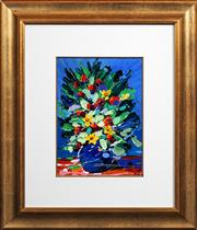 Sale 8415 - Lot 503 - Palla Jeroff (1957 - ) - Still Life - Flowers 33.5 x 24.5cm