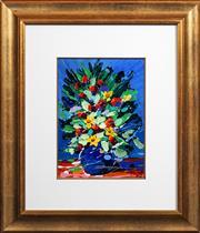 Sale 8415 - Lot 503 - Palla Jeroff (1957 - ) - Still Life - Flowers 33.5 x 24.5cm