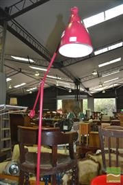 Sale 8431 - Lot 1041 - Red Modern Standard Lamp