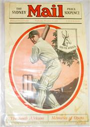 Sale 8460C - Lot 49 - Sydney Mail front cover. Wednesday November 11, 1931. Showing South African cricketer. Trimmed closed tears, some soiling. Good.