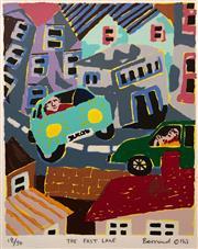Sale 8609A - Lot 5049 - Bernard Ollis (1951 - ) - The Fast Lane 25 x 21cm (sheet size: 57 x 35)