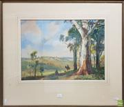 Sale 8604 - Lot 2057 - Henry Martin (1891 - 1944) - Riding through Country, watercolour 38x 52cm, signed lower right