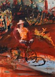 Sale 8624 - Lot 581 - John R Walker (1957 - ) - Untitled (figure in landscape) 68.5 x 48cm