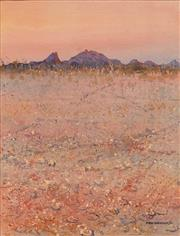 Sale 8675 - Lot 560 - Ben Shearer (1941 - ) - Along the Tanami Track, 1986 69.5 x 53cm