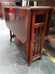 Sale 8717 - Lot 1021 - Mahogany Inlaid Sutherland Table