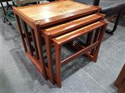 Sale 8723 - Lot 1072 - Quality G Plan Nest of Tables with Cork Tops