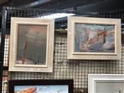 Sale 8816 - Lot 2041 - Set of Two Modern Framed Works
