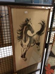 Sale 8903 - Lot 2063 - Japanese Print Horse Artwork