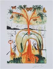 Sale 8985A - Lot 5021 - Salvador Dali (1904 - 1989) - Mad Tea Party 75 x 58 cm (frame: 104 x 87 x 3cm)