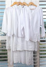 Sale 9023H - Lot 89 - Four kaftans in cotton linen blend, two examples by Maggie T another by Eileen fisher, all size L
