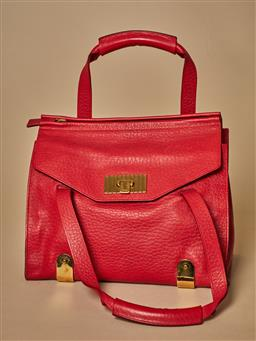 Sale 9093F - Lot 5 - A Red chloe handbag with several internal side pockets.