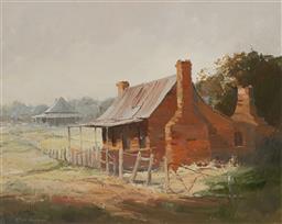 Sale 9161A - Lot 5013 - COLLEEN PARKER (1944 - 2008) - Miners Cottage, Wattle Flat 40 x 50 cm (frame: 56 x 66 x 3 cm)