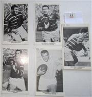 Sale 8404S - Lot 88 - Parramatta The Sun Footy Cards 1967 – Barry Rushworth, Dick Thornett, Ken Thornett, Ron Lynch, Brian Hambly