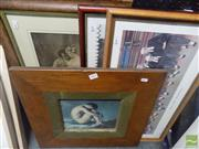 Sale 8513 - Lot 2069 - 4 Framed Prints; The Rivals, Dock Brief - Nine Pleaders, Village Cricket - Nine Gentlemen in Waiting & Boy