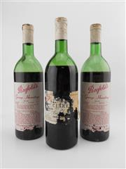 Sale 8519W - Lot 90 - 3x Old Penfolds - 2x Grange, 1x St Henri (poor condition, not suitable for drinking)