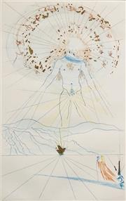 Sale 8597 - Lot 595 - Salvador Dali (1904 - 1989) - Bridegroom Leaps Upon the Mountains, 1971 (from The Song of Songs Of King Solomon) 40 x 25cm