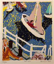 Sale 8609A - Lot 5050 - Bernard Ollis (1951 - ) - The Quay 31 x 25cm (sheet size: 57 x 41cm)