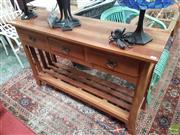 Sale 8601 - Lot 1500 - Timber Two Drawer hall Table