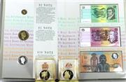 Sale 8679 - Lot 394 - 1988 BICENTENIAL COIN AND NOTE COLLECTION; from the Melbourne International Coin Fair 1988, comprising an album of proof $2, $5 & $1...