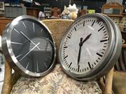 Sale 8748 - Lot 31 - Rustic Style Wall Clock And Another (diameter-40 and 45cm)