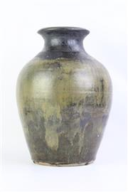 Sale 8749 - Lot 30 - Milton Moon Large Green Glaze Vase