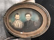 Sale 8819 - Lot 2065 - Oval Frame with Artwork