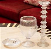 Sale 8882H - Lot 5 - Three pieces of glassware including Orrefors
