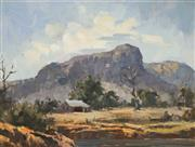 Sale 8929 - Lot 560 - Leon Hanson (1918 - 2011) - The Farm, NSW 29 x 39.5 cm