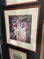 Sale 8924 - Lot 2017 - Norman Lindsay - Reveldecorative print, 63 x 57cm (frame)