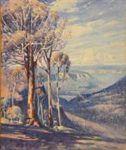 Sale 8382 - Lot 580 - Gerald Fitzgerald ( 1873 - 1935) - Leura, Blue Mts, NSW, 1925 40.5 x 34cm