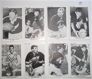 Sale 8404S - Lot 89 - Manly The Sun Footy Cards 1967 – Frank Stanton, Ken Day, Bobby Fulton, Bob Batty, John Morgan, Alec Tennant, Billy Bradstreet, Mick...