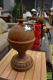 Sale 8480 - Lot 1186 - Pair of Cast Iron Spires