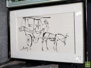 Sale 8495 - Lot 2042 - Artist Unknown (2 works) - The Street Vendor 37 x 50.5cm