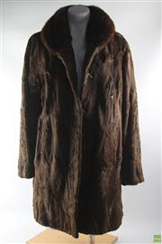 Sale 8586 - Lot 53 - African Kit Coat with Mink Collar