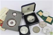 Sale 8635 - Lot 72 - Assorted Silver Collector Coins incl Holey Dollar & The Dump, 1Oz Kookaburra, etc.