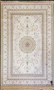 Sale 8653 - Lot 1026 - Persian Silk Blend Machine Made Rug (195 x 135cm)